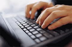 03 writing on computer